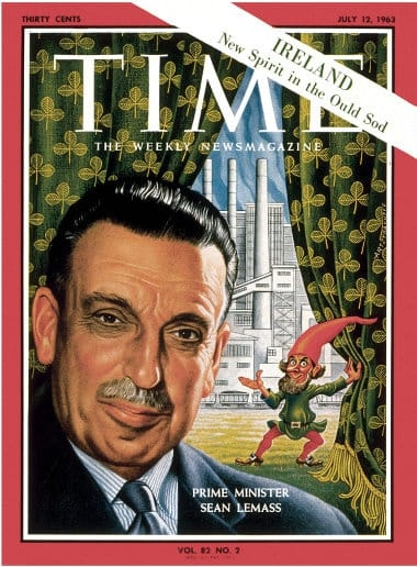 Lemass on the cover of Time Magazine. 1963