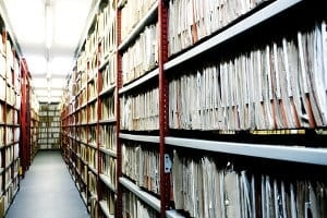 Archives storage room
