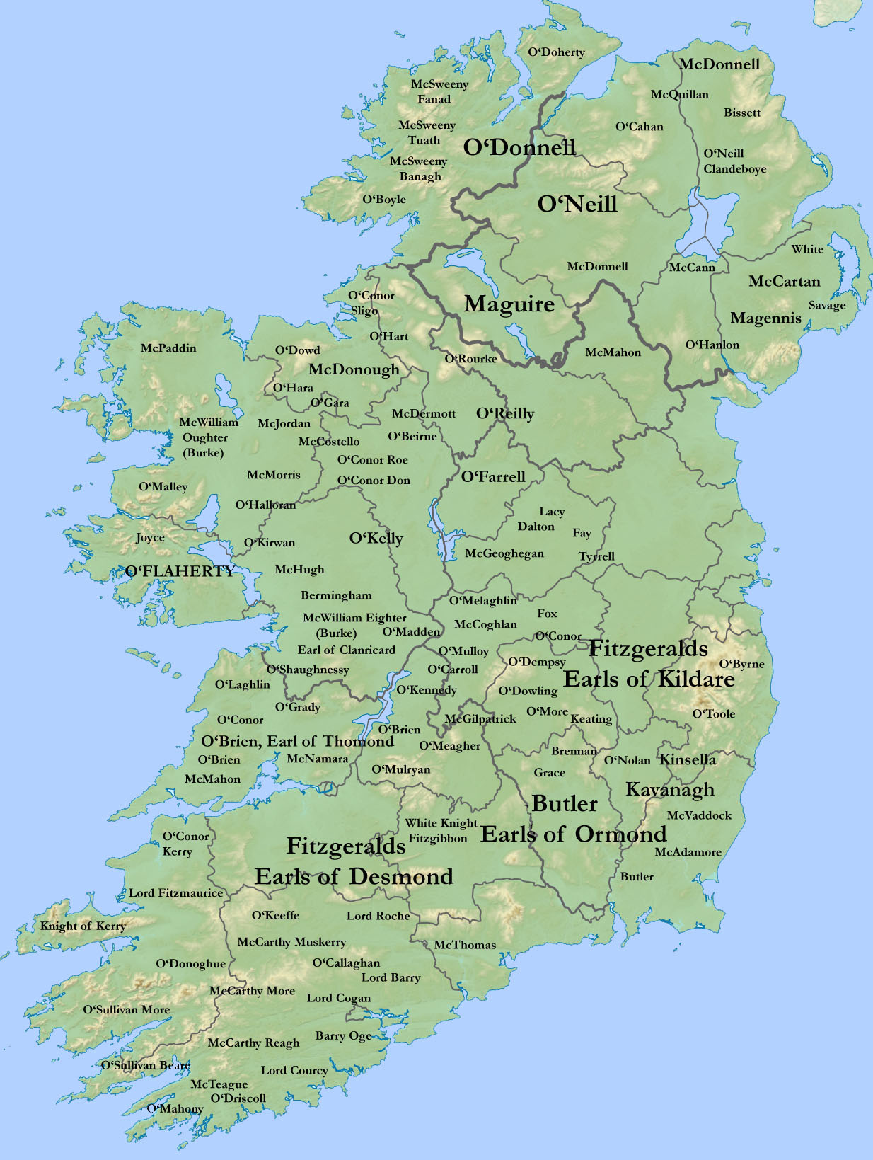 Map Of Ireland 1916.Surnames Irish Genealogy